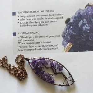 Amethyst Tree Of Live Necklace